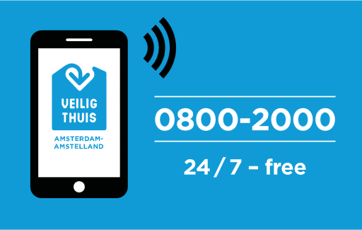 Contact Veilig Thuis at 0800-2000